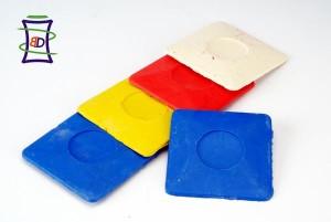 mydełka oraz kredki do tkanin