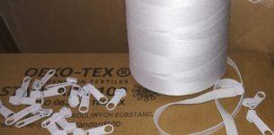 białe nici do szycia pościeli